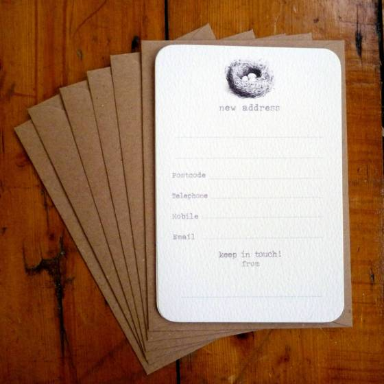 Set Of Six New Address Announcement Cards, £5.95, by ARBEE on Not on the High Street