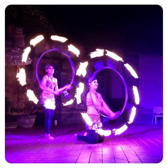 We saw lots of traditional, local dances, including a wonderful fire dance performance