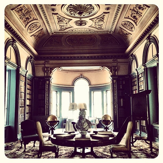 The library at Wimpole Hall