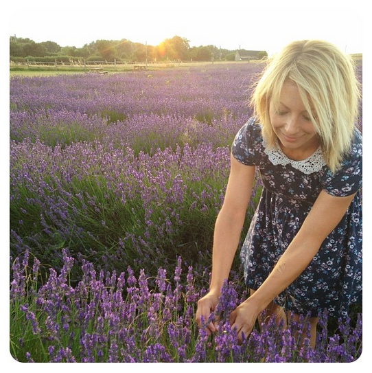 Hannah in the lavender