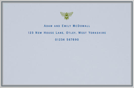 Personalised correspondence cards, by Smythson