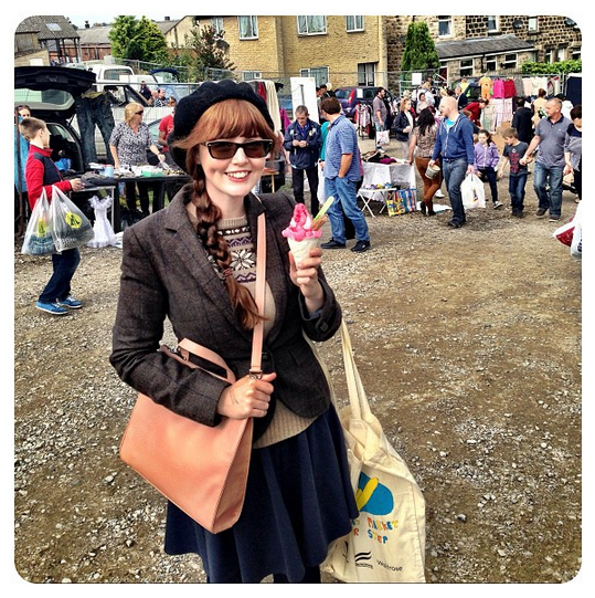 Ice cream at the Otley car boot sale