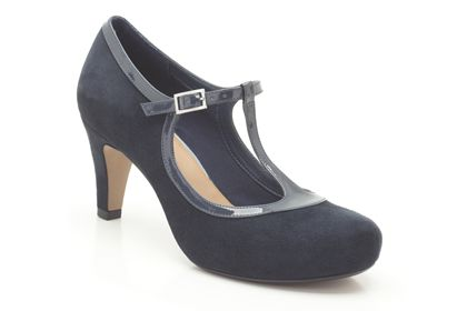 Clarks, Chorus Thrill in Navy, £50