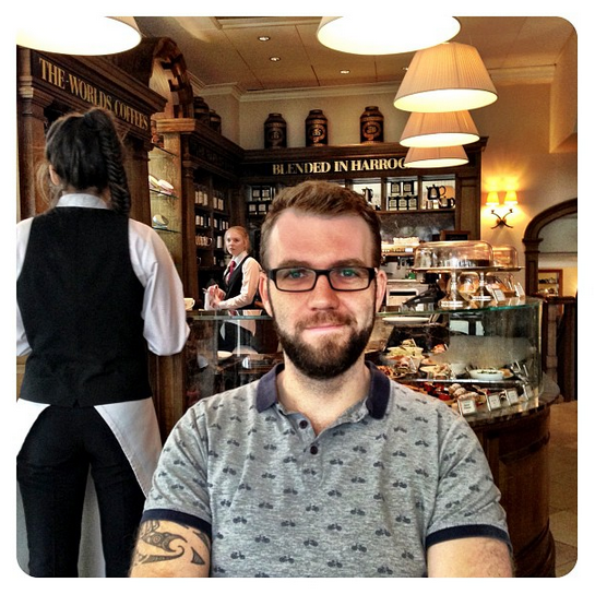 Adam at the Montpellier Bar at Bettys Tea Rooms in Harrogate