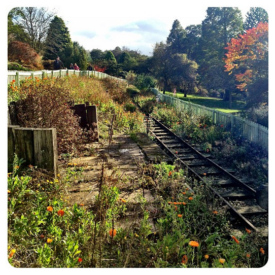 The old model railway at Golden Acre Park in Leeds