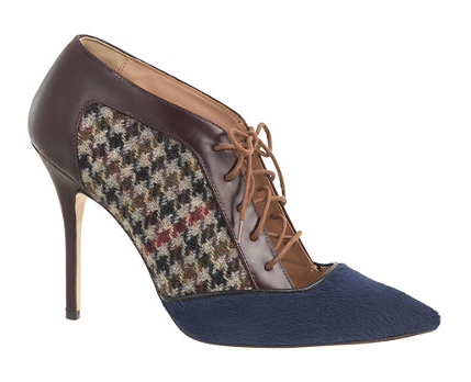 J. Crew Collection, Lace-Up Houndstooth Pumps, £398