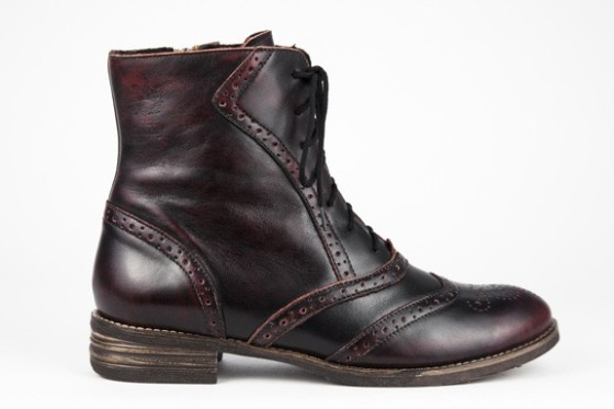 Shoe Embassy, Brick Lane boots in Burgundy Ink, £89