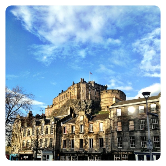 Edinburgh castle on a bright winter's day