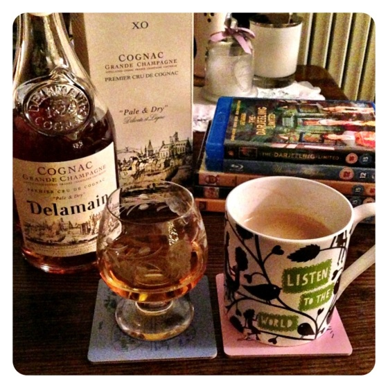 Coffee, Delamain cognac and Wes Anderson films