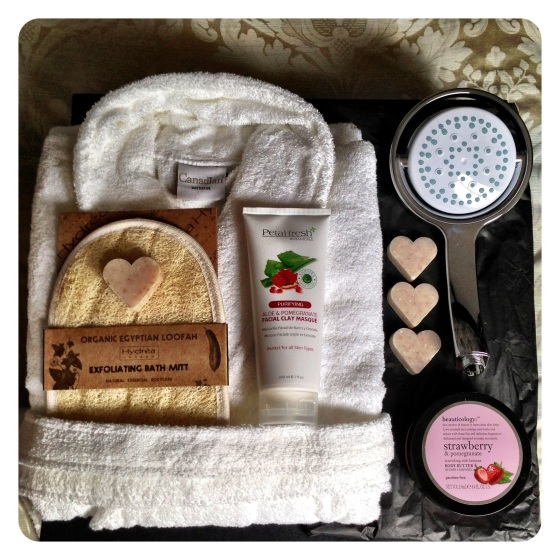 Mira 360 Shower and Valentine's Day pamper hamper