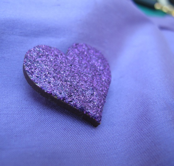 Purple glitter jewellery tutorial