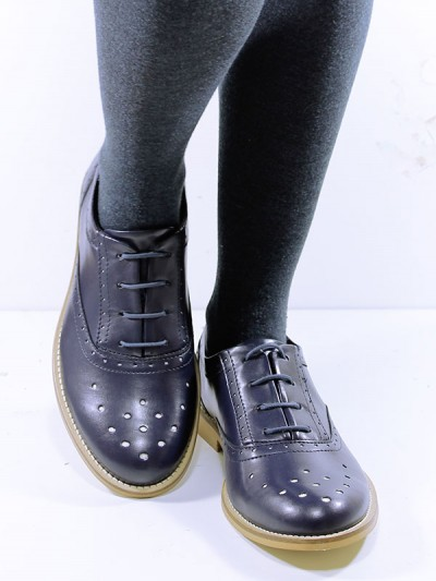 Perforated Oxfords in Navy, £75.00
