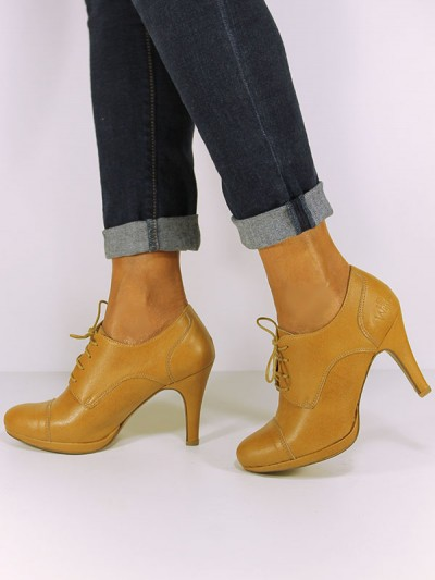 Lace up Heels in Caramel, £49