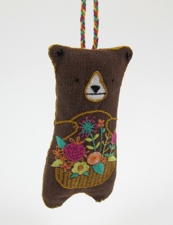 Embroidered Bear Plushy DIY from Molly Makes