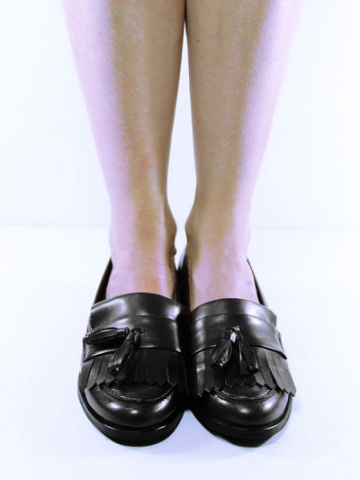 Fringed Loafers in Black, £65