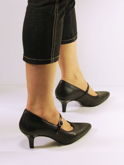 Mary Jane Kitten Heels in Black, £64