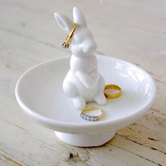 Ceramic Rabbit Jewellery Dish by Ella James, £14.75 on Not on The High Street, via Under a Glass Sky