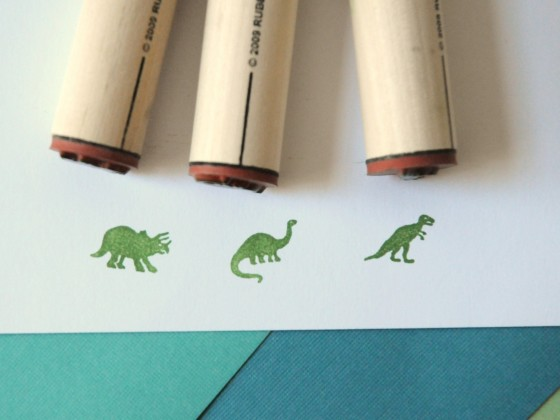 Dinosaur Stamp Set via Under a Glass Sky