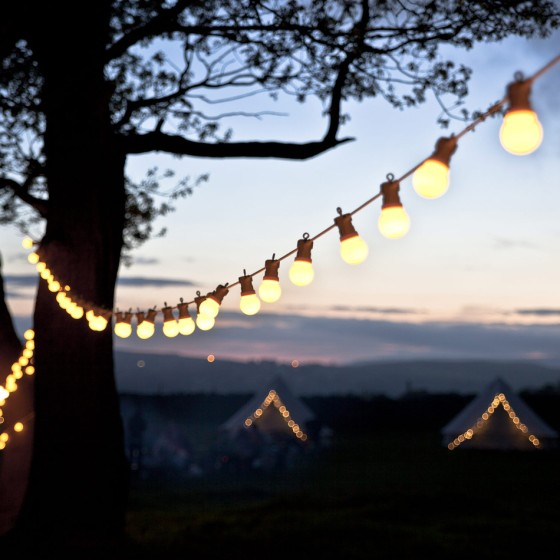 LED Garden Festoon Lights via Under a Glass Sky