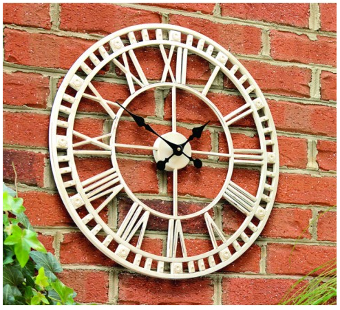 Gardman Claremont Garden Clock via Under a Glass Sky