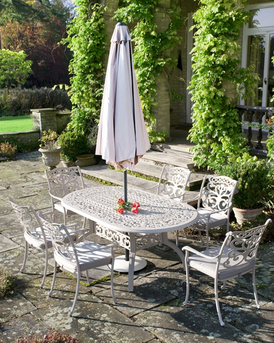 Victorian Style Garden Dining Set via  Under a Glass Sky