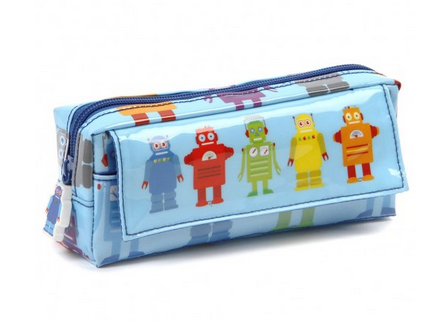 Robot Pencil Case via Under a Glass Sky
