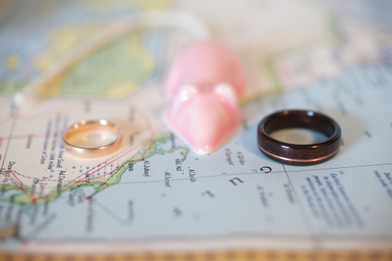 Our wedding: the rings, rose gold and rosewood (via Under a Glass Sky)