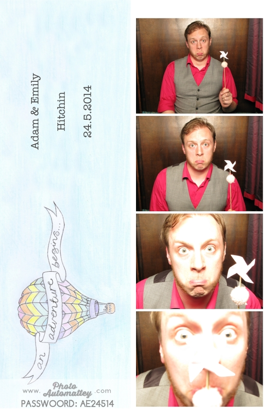 Adventure theme wedding photo booth,  customised graphic strip