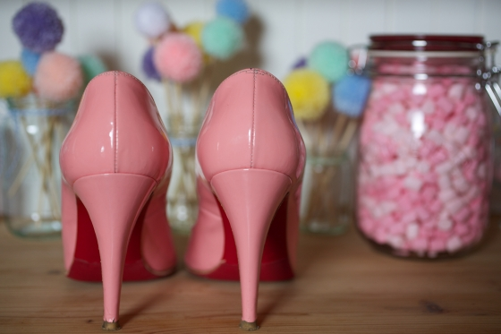 Our wedding: the Bride's shoes by Christian Louboutin