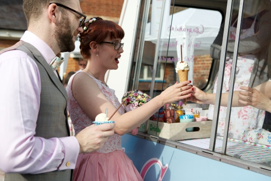 Our Wedding: Ice Baby vintage ice cream van