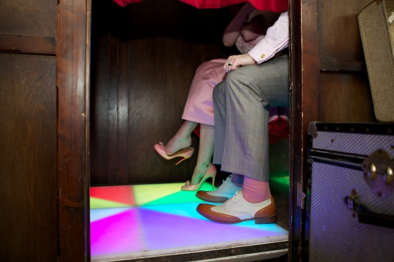 Disco floor in wedding photo booth