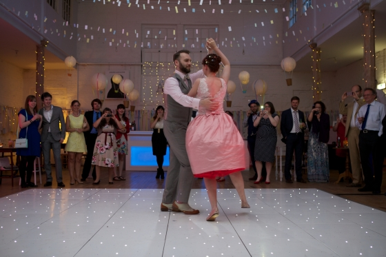 DIY adventure themed wedding, modern jive first dance