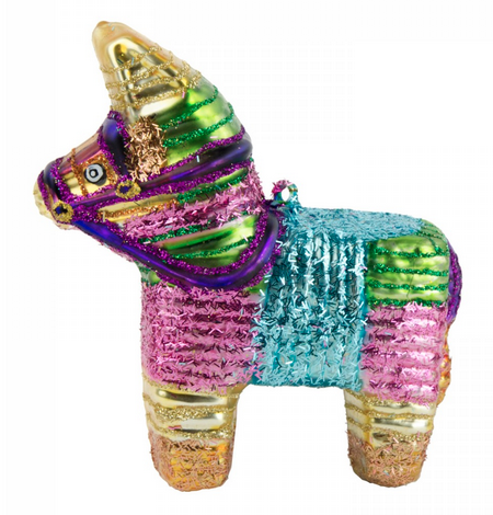 Bright Pinata Christmas tree ornament via Under a Glass Sky