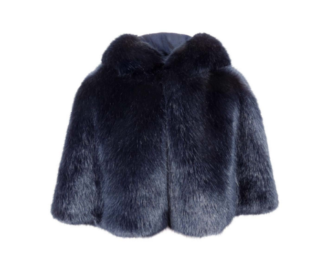 Midnight Faux Fur Short Cape £240.00