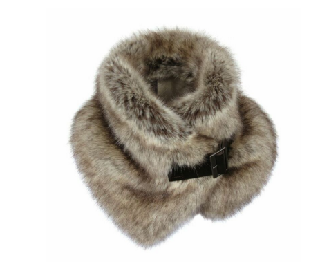 Truffle Faux Fur Buckle Collar £60.00
